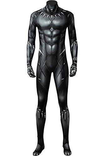 Wecos Superhero Zentai Halloween Costume Adult Jumpsuit Cosplay Elastic Bodysuit Black Version Large]()