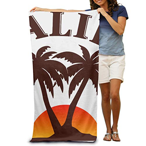 Happybeth Microfiber Beach Towel Wrap - Malibu Rum Lightweight Absorbent Quick-Drying SPA Towels Swimsuit Bath and Shower Towel Beach Blanket for Women& Men,Girls&Boys