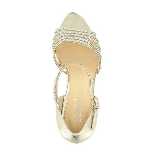 LEXUS - Zapatos de tacón  mujer Dorado - GOLD P.U