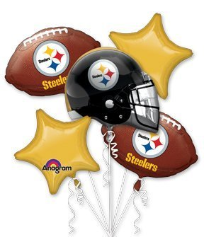 Anagram International Bouquet Steelers Party Balloons, Multicolor ()