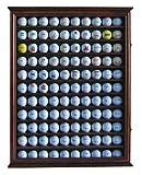 110 Golf Ball Display Case Wall Cabinet Holder, Solid Wood WALNUT Finish GB05-WALN