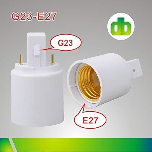 Halica 100pcs/lot G23 to E26 lamp base holder socket adapter CFL g23 to e27 light bulb base converter plug