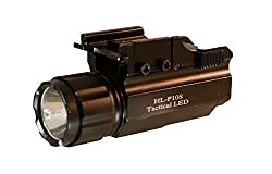 Aimkon Hilight P10s 500 Lumen Pistol Led Strobe Flashlight With Weaver Quick Release For Glock Series, Sig Sauer, Smith & Wesson, Springfield, Beretta, Ruger, & Heckler & Koch, Etc.