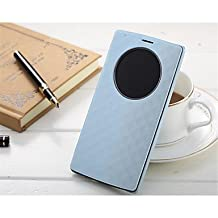 Luxury Flip PU Leather Cover Case Quick Circle Smart Wake Up Case For LG G4 (Assorted Color) ( Color : Blue )