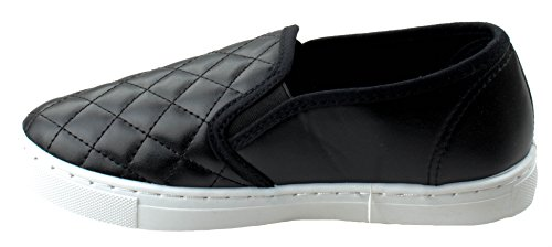 Black Anna Sneakers Comfort On Slick Slip Fashion Ligh Weight Women's Quilted UqPvZwUpa