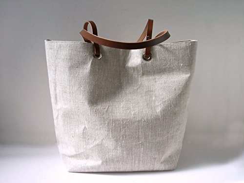 Natural Linen Tote Bag by Independent Reign - New York