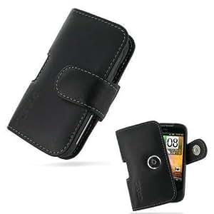 Etui - Housse cuir PDAIR NOIR ouverture horizontale pouch (3BHTWEP01) pour HTC Wildfire