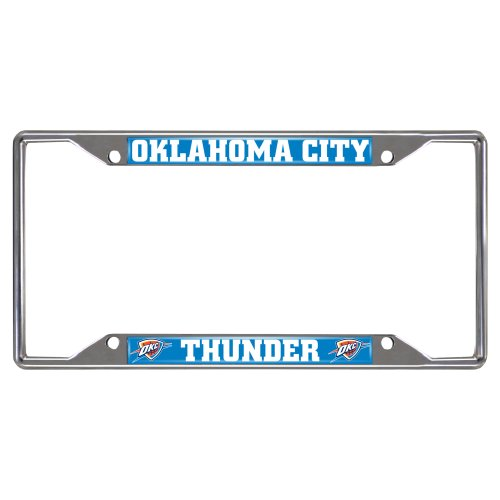 FANMATS  14874  NBA Oklahoma City Thunder Chrome License Plate Frame