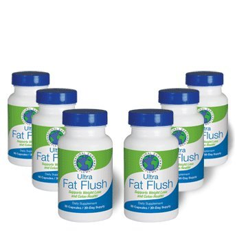 Ultra Fat Flush | All Natural Dietary Supplement Cleanses and Supports Thermogenic Weight Loss & Colon Health | Plant-Based Formula |Increase Energy Levels & Flush Fat | 180 Day Supply ()