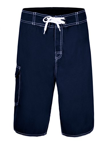 NONWE Men's Summer Swimming Wear Casual Beach Shorts Deep Blue 30 ()