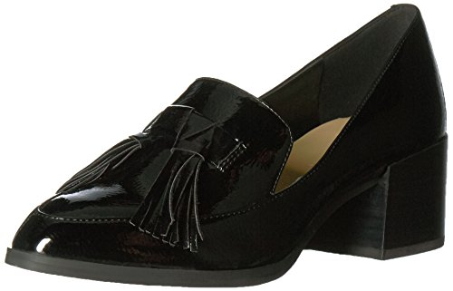 Leather Loafer Heels (Marc Fisher Women's Phylicia Loafer, Black, 8.5 Medium US)
