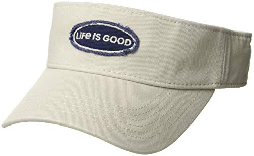 Life is Good Visor Life is Good Oval BONE, One Size - Life Is Good Cotton Visor