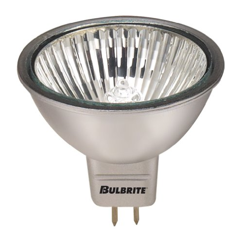 12PK Bulbrite 638521 EXN/SLV/24 50-Watt Dimmable Halogen MR16, GU5.3 Base, Silver