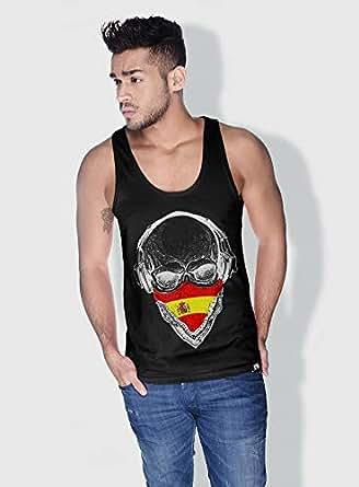 Creo Spain Skull Tanks Tops For Men - L, Black
