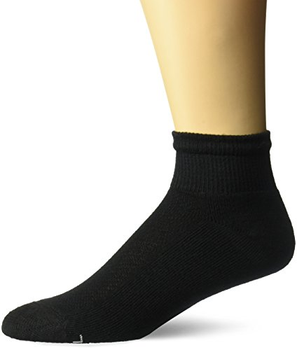 Hanes Ultimate Men's 6-Pack X-Temp Ankle Socks, black, 10-13 ()