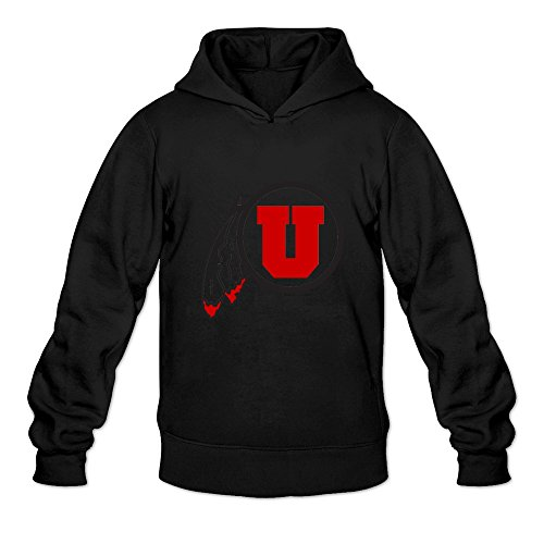 Crystal Men's NCAA Utah Utes Logo Long Sleeve Sweatshirt Black US Size M