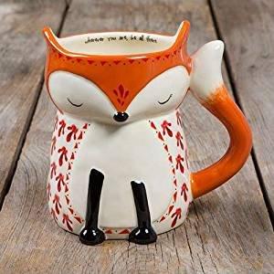 Natural Life Fox Folk Art Mug