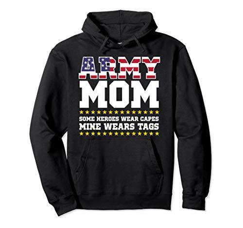 Proud Army Mom Hoodie Military Mom Hoody My Hero Womens