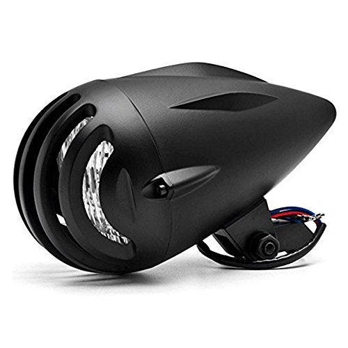DLLL Universal Motorcycle Black Retro Billet Headlight Sturgis Glide 4 3/4