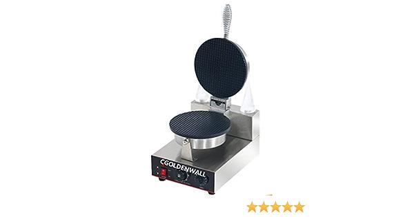 Round Shape CGOLDENWALL Electric Round Ice Cream Cone Machine Cone Maker Egg Roll Waffle Maker Machine Baker Iron Toaster Making Machine CE Certification