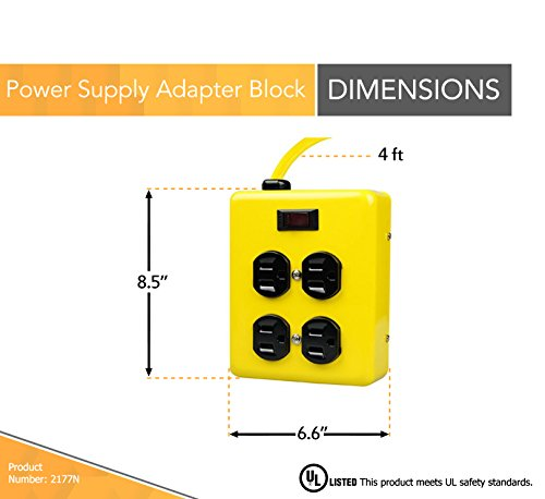 yellow-jacket-power-supply-adapter-block-with-4-outlets-and-lighted-switch-4-ft-cord-yellow