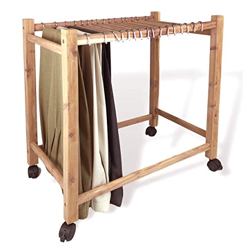 Aromatic Red Cedar Pant Trolley/Trouser Rack (16 Hangup Rods)