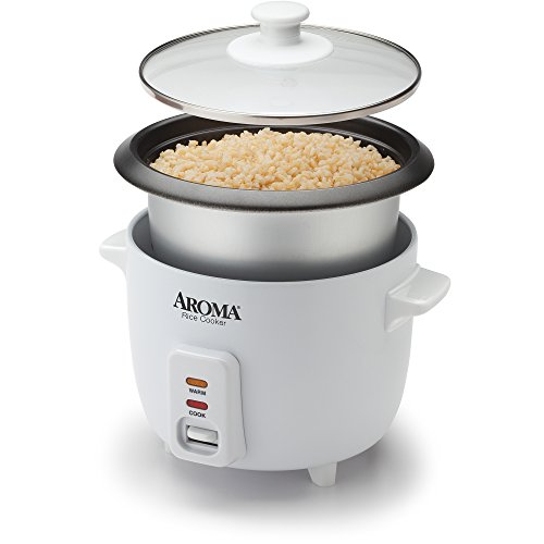 Aroma 6-Cup Pot-Style Rice Cooker which is Easy-to-clean, non-stick removable inner pot For Sale
