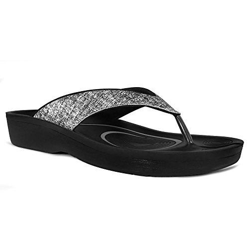 Flip Arch Orthotic Black Mellow Thong Comfort AEROTHOTIC Original Support Flops Sandal Comfortable for and Walk with zYqAB