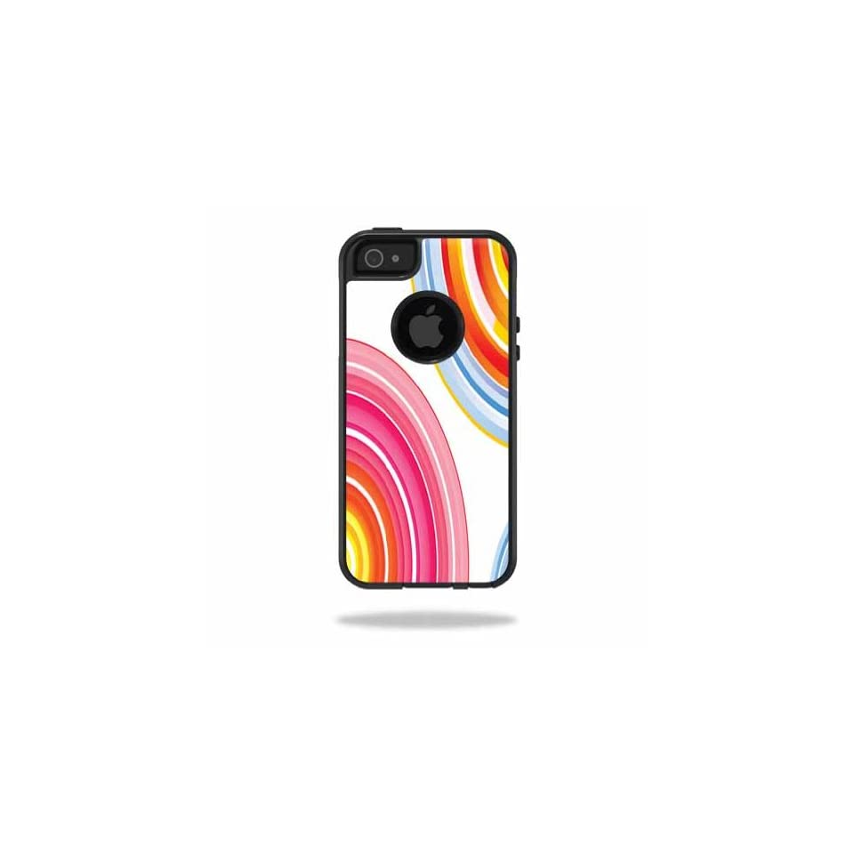Mightyskins Protective Vinyl Skin Decal Cover for OtterBox Commuter iPhone 5/5s/SE Case Cell Phone wrap sticker skins Lollipop Swirls