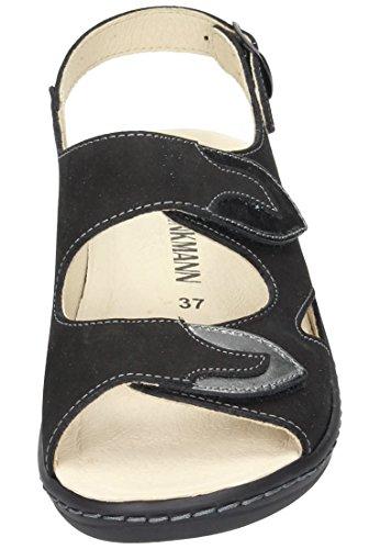 Dr. Brinkmann Dr. Brinkmann Damen Sandalette - Sandalias de vestir de Piel para mujer Negro negro Negro - negro