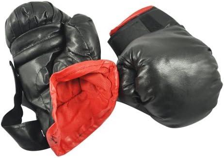 Tiamu 黒い合成皮革のスポンジパッド付きのボクシング手袋