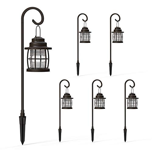 Malibu Harbor Collection LED Low Voltage Pathway Light 6 Pack Kit Dual Use Shepherd Hook Lights for Driveway, Yard, Lawn, Pathway, Garden 8422-4110-06