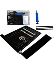 Jigsaw Puzzle Mat 2000/3000 Piece Puzzle Storage Mat, for Unfinished Game Pad, with A Drawstring Inflatable Tube Storage Bag Straps Fasteners and Mini Pump, Black