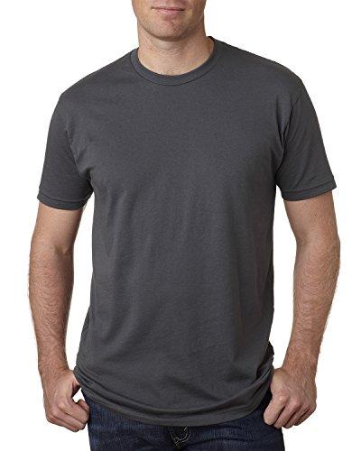 Next Level Premium Fit Extreme Soft Rib Knit Jersey T-Shirt, Heavy Metal, Small