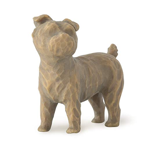- Willow Tree Love my Dog (small, standing), sculpted hand-painted figure