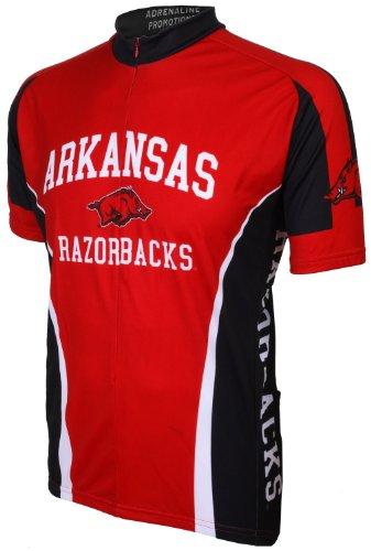 NCAA Arkansas Cycling Jersey,X-Large(red/black)