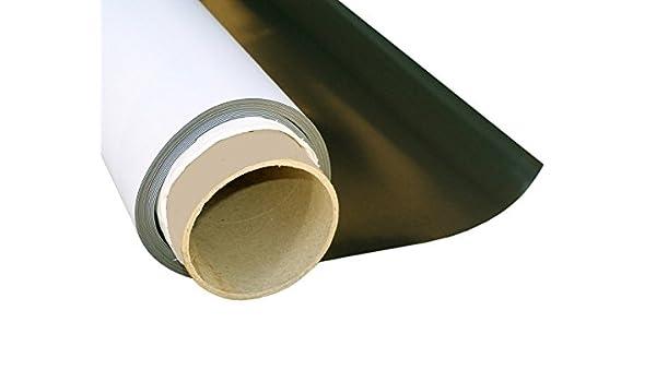 Lámina magnética blanco mate 0,4mm x 50cm x 62cm - crear imanes personalizados, adhiere a todas superficies metálicas: Amazon.es: Hogar