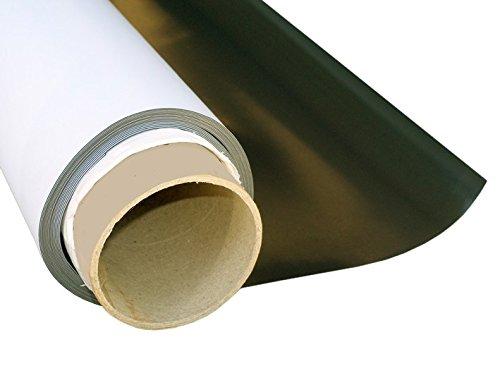 Foglio magnetico permanente bianco opaco flessibile 1,1mm x 31cm x 50cm - stampabile con stampa digitale, applicabile a tutti superfici metalliche Magnosphere