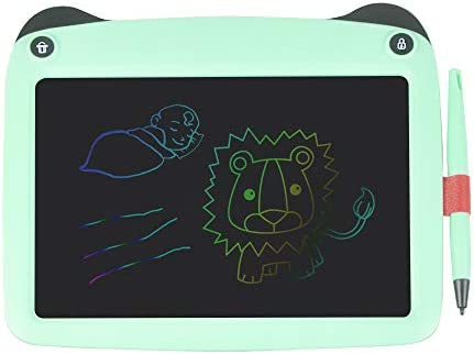 9 Inch LCD Writing Tablet Kids Drawing Board Pads Portable Graphic Board Colored Handwriting Sketchpad with Erase Lock Button