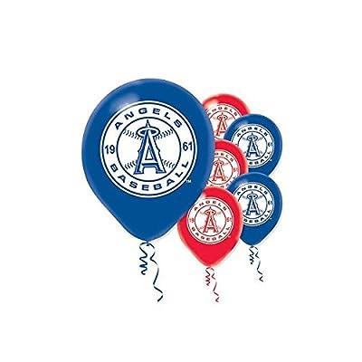Amscan Los Angels Major League Baseball Printed Latex Balloons Childrens Party