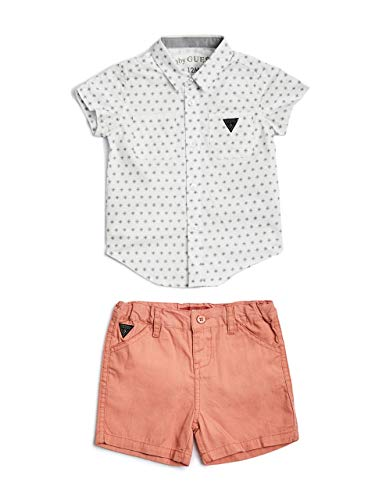 GUESS Factory Kai Woven Shorts Set (0-24M)