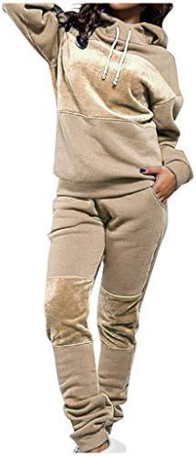 LeeHanTon Sherpa Zipper Womens Sweatsuits Active Jogging Fleece 2 Pieces Hoodie and Pants Winter Outfit Sets
