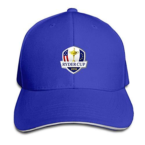 (D52D4FDSA 2018 RyderrCup Logo Baseball Cap Unisex)