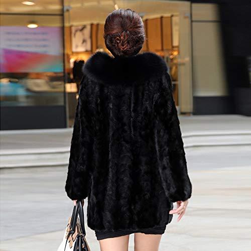 Morwind Inverno Cappotto Lunghe Breve Cardigan Pelliccia Maniche Caldo Outwear Coat Moda Parka Capispalla Faux Donne Black Jacket Donna Blazer Giacca qa0rq