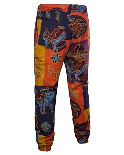 Latérales En Imprimé Elégant Ethnique Poches Colour Décontracté 2 Pantalon D'été Simple Style Sport Crystallly Avec Vintage De Lin Homme 5q0awtEEx