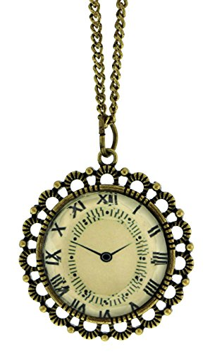 - Mi Amore Gold-Tone Necklace For Women With A Clock Design Charm AERON14