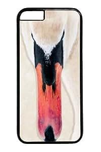 Big Face Swan Custom iphone 6 plus 5.5 inch Case Cover Polycarbonate Black