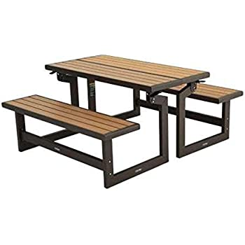Amazon.com : Folding Bench Picnic Table Convertible Outdoor Patio ...