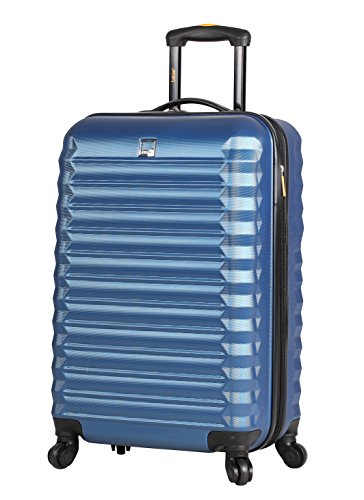 Lucas ABS Carry On Hard Case 20 inch Rolling Suitcase Set With Spinner Wheels (20in, Steel Blue)