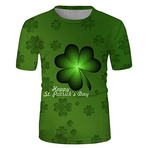 Patricks Day Long Sleeve t-Shirt Tops Blouse Shirts EINCcm Women Irish Shamrock Green Shamrock Heart St